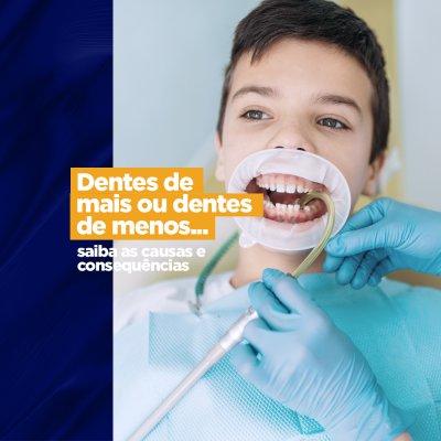 dentes a mais ou a menos